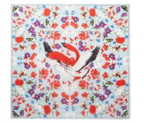 Bedrucktes Tuch aus Seidensatin