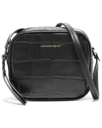 Auslass Professionelle Günstiger Preis Aus Deutschland Alexander McQueen Damen Kameratasche aus Leder mit Krokodileffekt Billig Verkauf Erstaunlicher Preis YcR0H3
