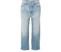 The Railroad Verkürzte Boyfriend-jeans in Distressed-optik