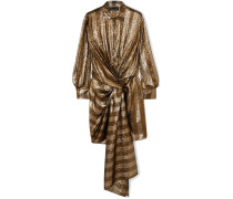 Minikleid aus Gestreiftem Lamé aus einer Seidenmischung