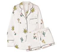 Alba Pyjama aus Seidensatin mit Print