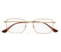 farbene Brille mit Eckigem Rahmen