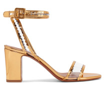 Leticia Sandalen aus Lackleder und Pvc