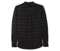 Bedruckte Bluse aus Jacquard