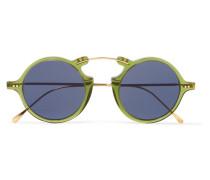 Roma Ii Sonnenbrille aus Goldfarbenem Metall und Azetat