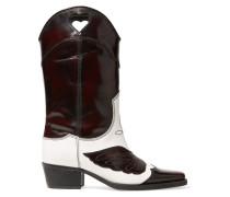 Marlyn Zweifarbige, Kniehohe Stiefel aus Leder