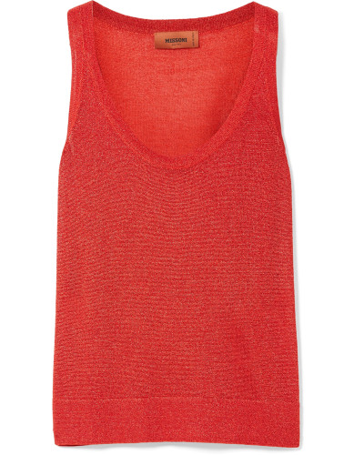 Tanktop aus Metallic-strick