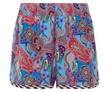 Shorts aus Bedrucktem Crêpe De Chine aus Seide