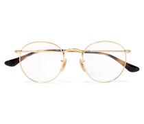 farbene Brille mit Rundem Rahmen