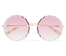 Rosie farbene Sonnenbrille