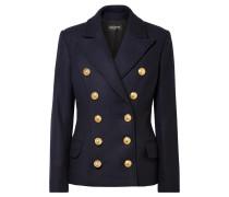 Doppelreihige Jacke aus einer Woll-kaschmirmischung