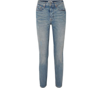 Karolina Hoch Sitzende Skinny Jeans in Distressed-optik