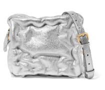 Chubby Cube Schultertasche aus Leder
