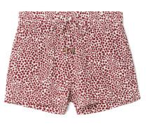 Ashley Bedruckte Pyjama-shorts aus Vorgewaschener Seide