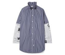 Oversized-hemd aus Baumwollpopeline