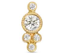Ohrring aus 18 karat  mit Einem Diamanten