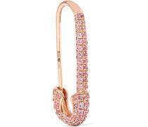 Safety Pin Ohrring aus 18 Karat  mit Saphiren