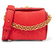 Box Bag 16 Kleine Schultertasche aus Pythonleder