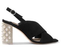 Nina Slingback-sandalen aus Veloursleder