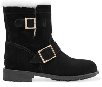 Youth Ankle Boots aus Veloursleder
