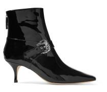 Saloon Ankle Boots aus Lackleder