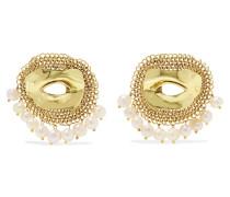 Pedigree Xl Eye farbene Ohrringe mit Perlen