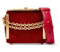 Box Bag 16 Schultertasche aus Samt und Leder