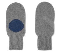 Handschuhe aus Kaschmir mit Intarsienmotiv
