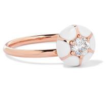Ring aus 18 Karat  mit Emaille und Diamant