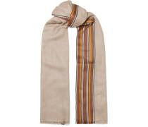 The Suitcase Gestreifter Schal aus einer Seiden-kaschmirmischung