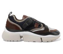 Sonnie Sneakers aus Canvas, Mesh, Veloursleder und Leder