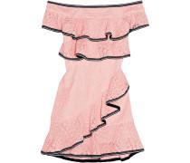 Courtside Schulterfreies Minikleid aus Guipure-spitze
