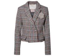 Verkürzter Blazer aus Harris-tweed