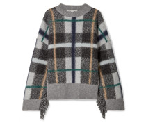 Oversized-pullover aus Wolle
