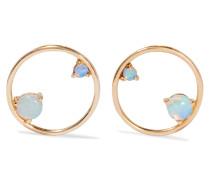 Ohrringe aus 14 karat  mit Opalen