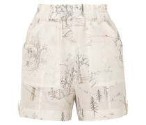Shorts aus einer Leinen-seidenmischung