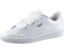 Basket Heart Patent Sneaker Damen, White- White