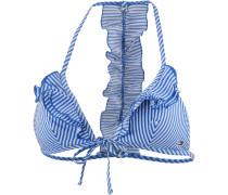Seersucker Bikini Oberteil Damen