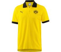 Borussia Dortmund Poloshirt Herren, Cyber Yellow- Black