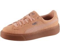 SUEDE PLATFORM Sneaker Damen, dusty coral- silver