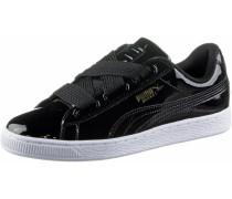 Basket Heart Patent Sneaker Damen, Black- Black
