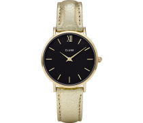 Damenuhr Minuit Gold Black CL30037