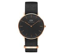 Damenuhr Classic Black Cornwall DW00100150