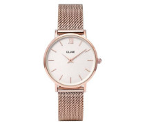 Damenuhr + Uhrenarmband Negin Minuit Rose Gold CLG006