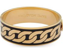 Armreif Curb Chain Black & Gold 202/DH032