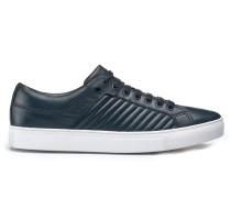 Sneakers aus Leder mit Matelassé-Muster