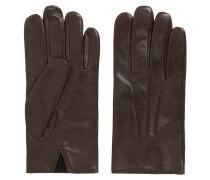 Handschuhe aus Nappaleder mit elastischem Einsatz