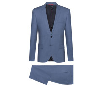 Extra-slim-fit suit in tropical stretch wool