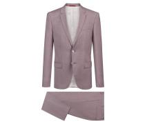 Extra Slim-Fit Anzug aus überfärbter Schurwolle