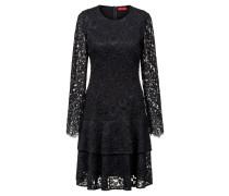 Kleid aus Spitze mit Volantrock